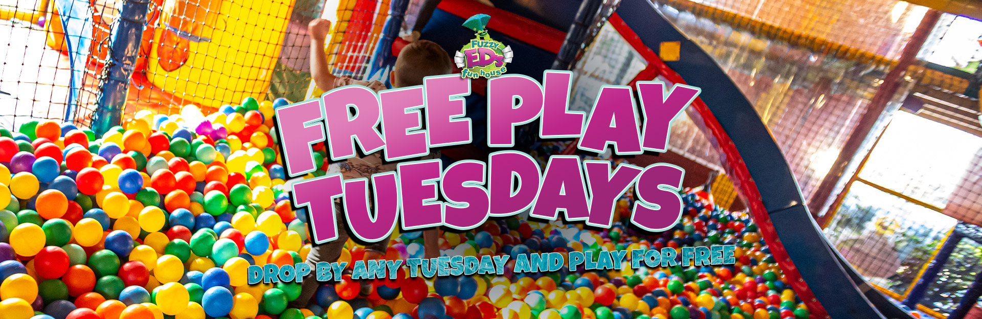 Enjoy free play on Tuesdays