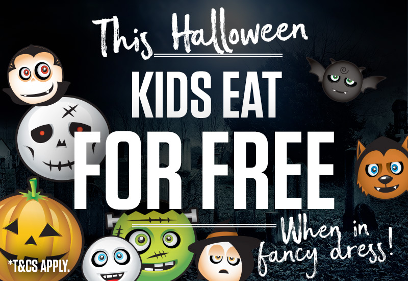 Kids eat for free* this Halloween
