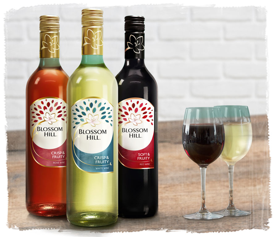 Red or White Blossom Hill Wines 2 bottles from £17