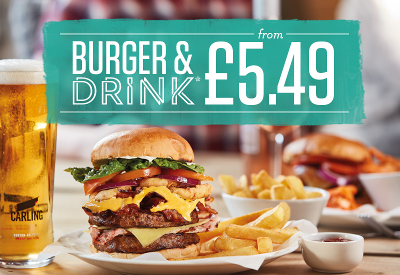Burger & Drink Offer