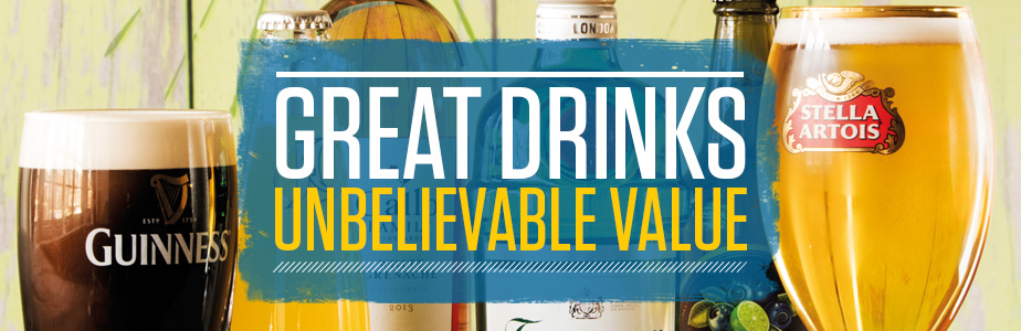 Great drinks, unbelievable value