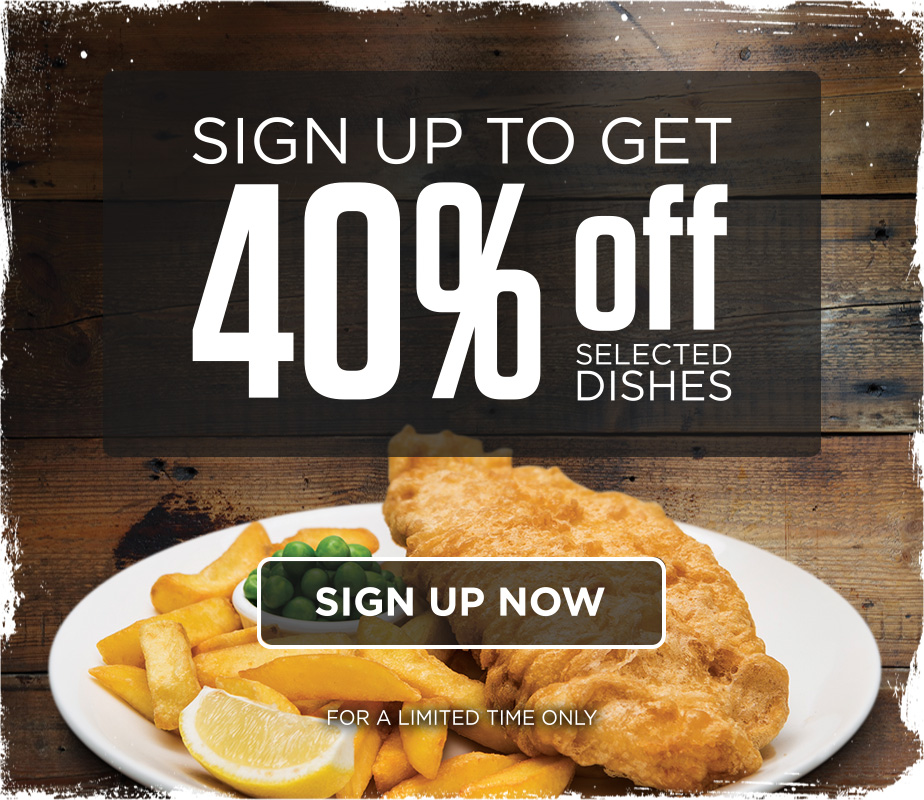 40% off selected dishes this January