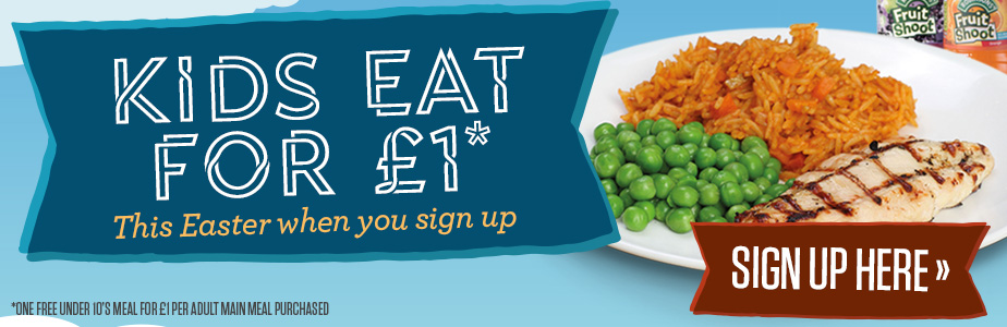 Kids Eat for £1 this Easter
