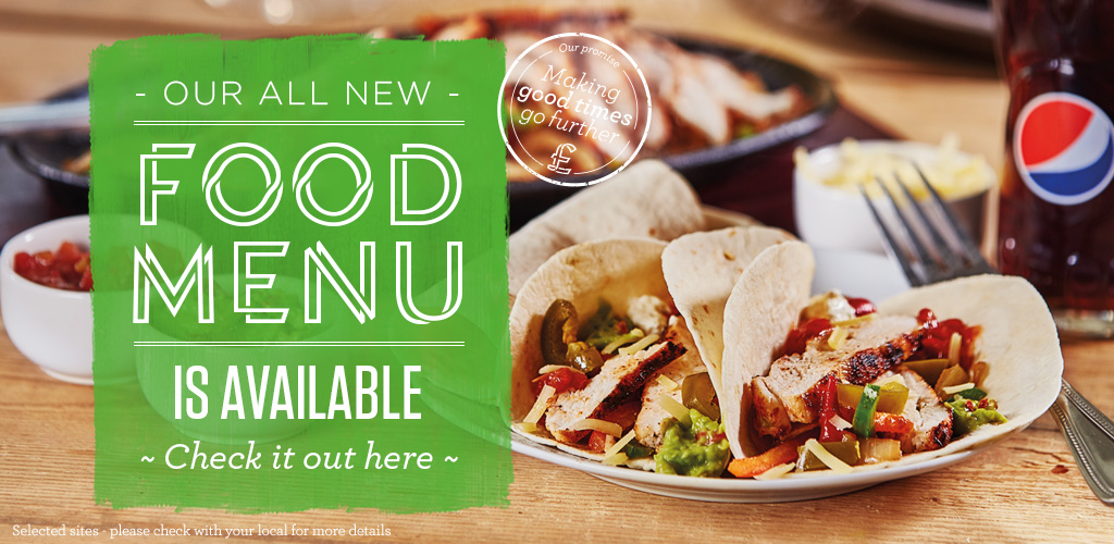 Our new menu is here