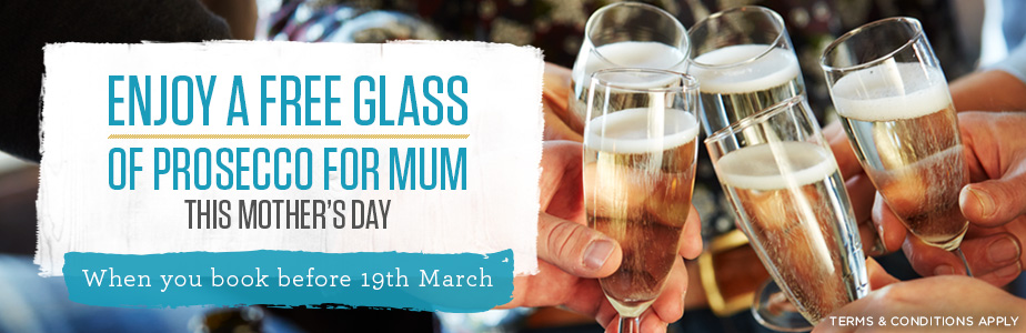 Free Prosecco for mum this Mother's Day