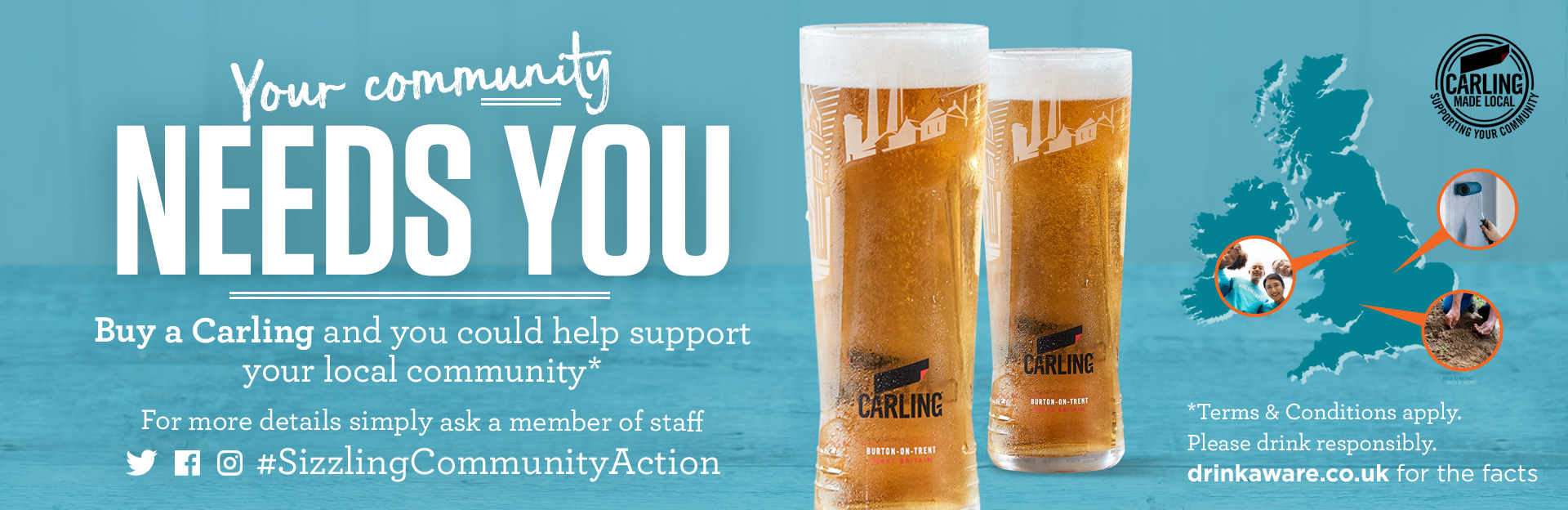 Carling & Sizzling Community