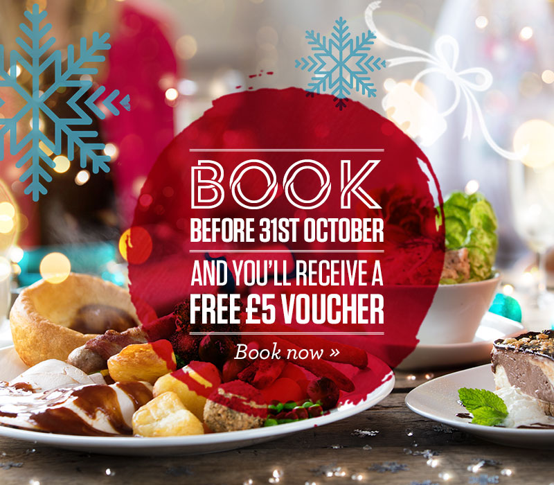 Book Early to receive a £5 gift card