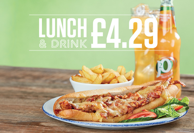 Free Drink with lunch offer