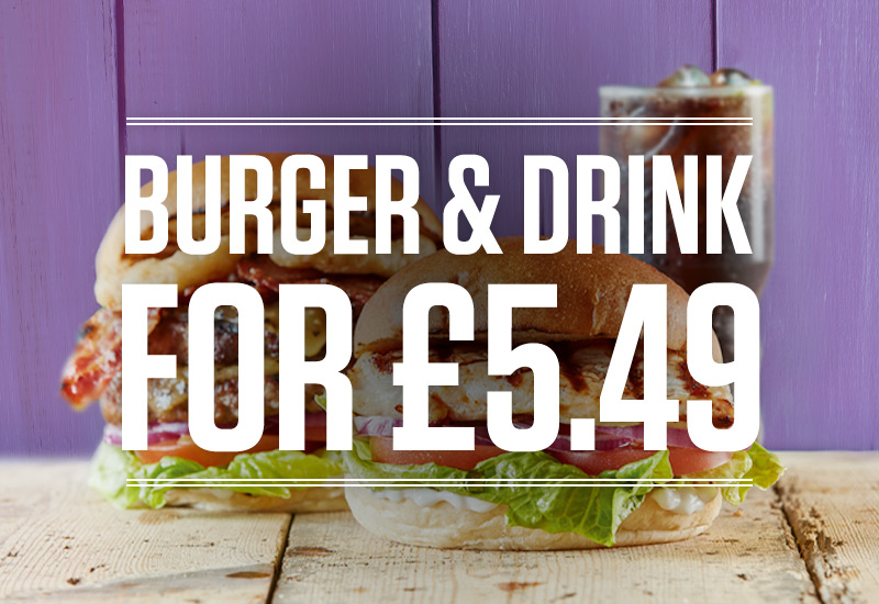 Burger and Drink Deal at The Three Horseshoes