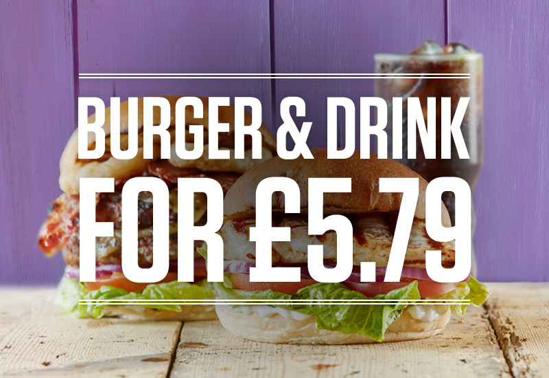 Burger and Drink Deal at The Potter's Wheel