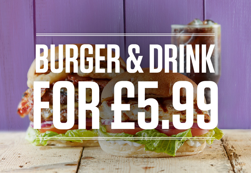 Burger and Drink Deal at The Traveller's Home