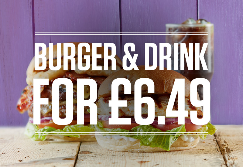 Burger and Drink Deal at Black Horse Illey Lane