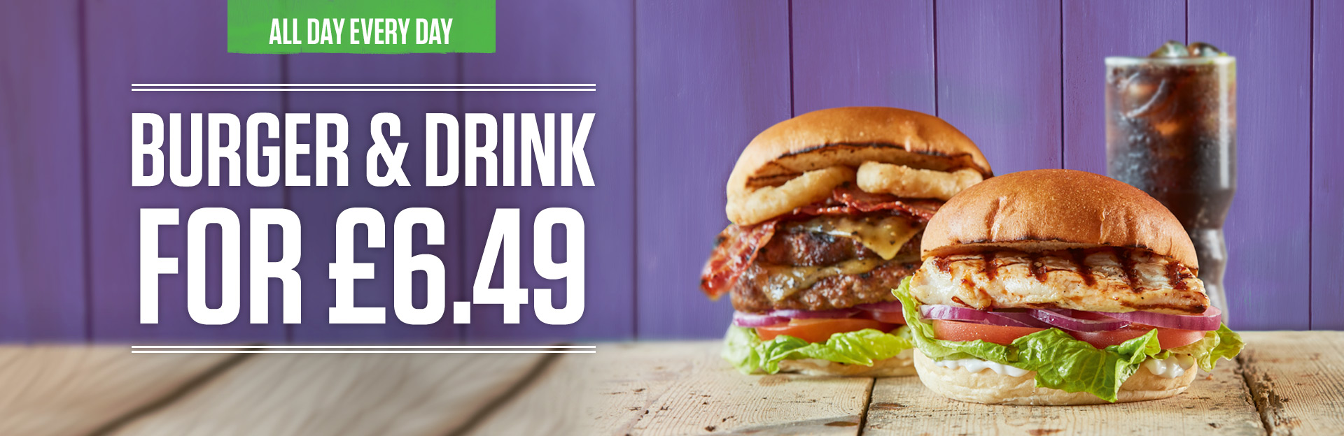 Burger and Drink Deal at The Riftswood