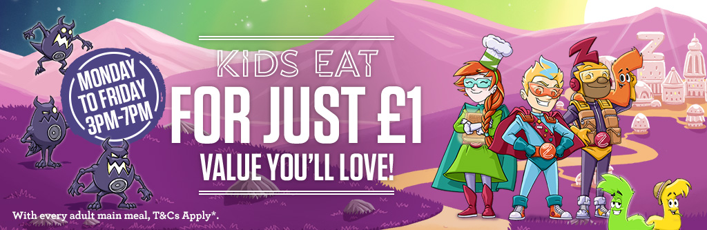 Kids Eat For £1 at Three Pigeons