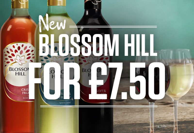 Blossom Hill For £7.50 at Sizzling Pubs