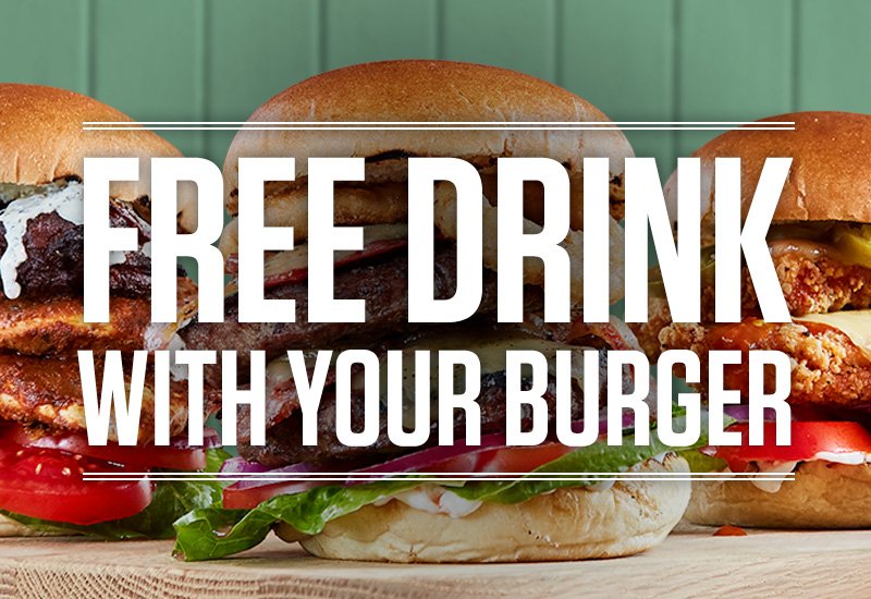 Burger and Drink Deal at The Three Horse Shoes