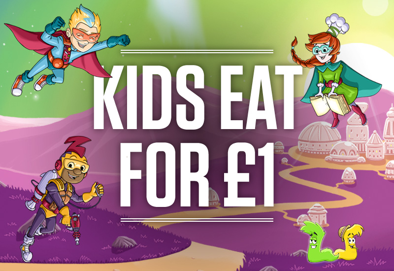 Kids Eat for £1 at The Three Horse Shoes