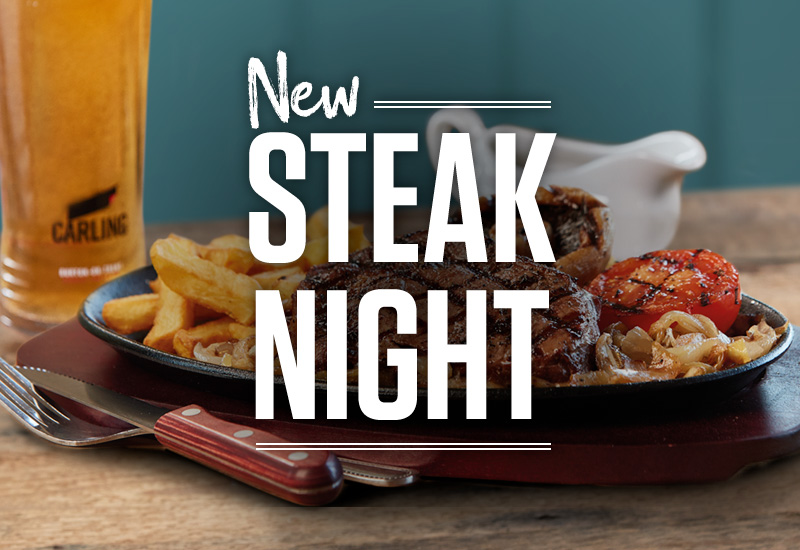 Steak Night at The Three Horse Shoes