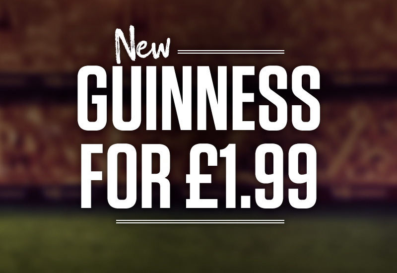 Guinness offer at Sizzling